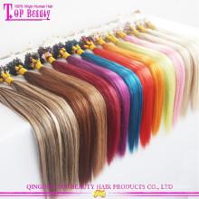 Высокое качество бразильского Виргинские человеческих оптовая микро ссылки наращивание волос дешевые микро кольцо наращивание волос