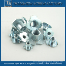 Galvanized Steel 4 Prongs T Nut