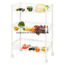 Epoxy Metal Wire Fruit and Vegetable Basket Holers for Display Wholesale