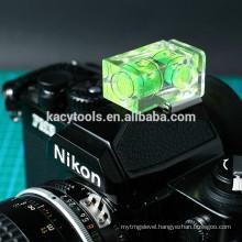 camera bubble spirit level with 2 vials
