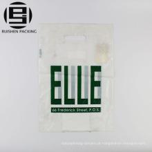 Cheap cor branca promocional cortados sacos