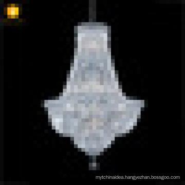 Chrome finish mini excellent crystal empire chandelier for bedroom lighting decor 17264