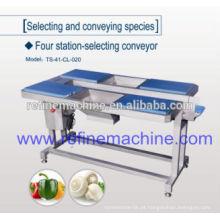 Mesa com transportador / seis estação selecionando transportador / transportador / linha de processamento vegetal