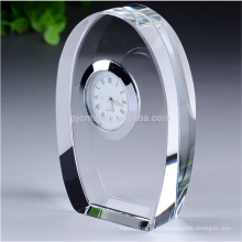 horloge de cristal personnalisé trophée table horloge souvenirs