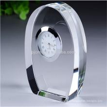 пользовательские кристалл трофей часы настольные часы сувениры
