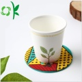 Logo Silikon Embossed Candy Color Cup Coaster Bukan slip