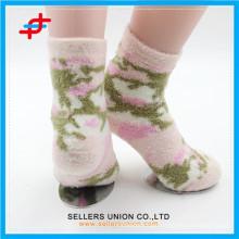Winter young girl nylon cozy thick happy socks