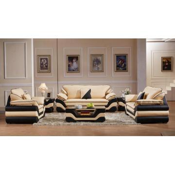 Sofá seccional de cuero de muebles de sala de estar