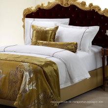 Hotel Kollektion 500 Fadenzahl Baumwolle gestickte Bettwäsche-Set