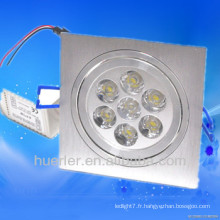 Vente chaude conduit downlight éclairage fluorescent 7w 6063 éclairage en aluminium en Chine