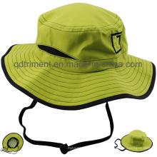 Al aire libre de poliéster de microfibra transpirable Fabrir Sport Bucket Hat (TMBH0783)