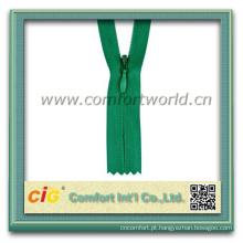 Alta qualidade personalizada Fashion Nylon Zipper reversa