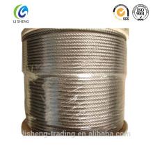 Cuerda de alambre de acero galvanizado 6x7 + Fc en bobinas