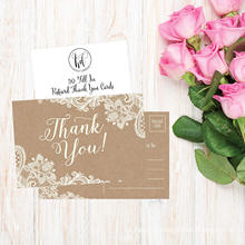 China Factory Supply Cheap Hand Made Greeting Thank You Wedding Cards
