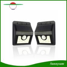 Wetterfeste Sonnenenergie 8 LED-Sicherheits-Bewegungs-Sensor-Licht-Garten-Lampe mit drei intelligenten Modi