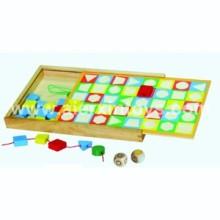 Laçage en bois jeu des perles de forme (81409)