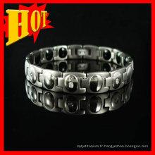 Bracelet en titane magnétique Bio Germanium 7 en 1