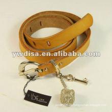 Cinturón de cuero coreano Cinturón de cuero estrecho con hebilla especial