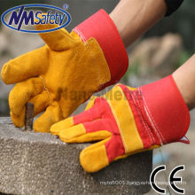 NMSAFETY cowhide split leather safety gloves