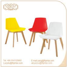 Venta caliente alrededor de plástico y silla de madera.