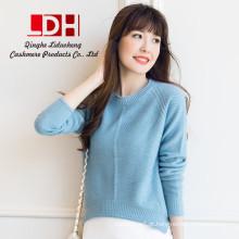 2017 Novo genuíno mink personalizado oversize lapis de lã e fios de lã puro suéter de cashmere pullovers