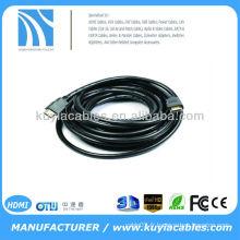 Plaqué or 5 m 1.4v Cordon HDMI mâle mâle 19pin