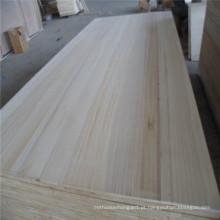 Placas de madeira maciça Fsc Paulownia