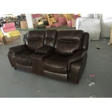 Coffee Color Recliner Sofa for Home Theater (722)