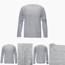 Suéter de cachemir puro de manga larga 100% de cuello redondo de manga larga para hombres
