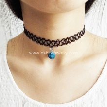 Shamballa Pendant 90s Tattoo Choker Necklace DIY