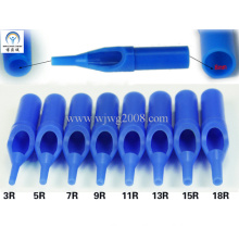 Disposable Tattoo Plastic Short Tips--50mm Blue R