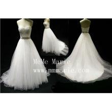 Sweetheart effel Rhinestone Schärpe Hochzeitskleid BYB-14592