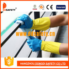 Bicolor Latex Household Working Gloves DHL214