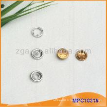 Prong Snap Button / Gripper avec design de mode / Logo MPC1031