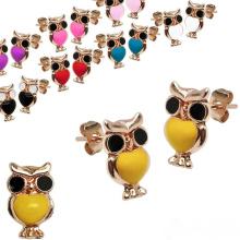 Neue Ankunfts-Rosa-Eulen-Goldohrring-Bolzen-Art- und Weiseohrring entwirft neue vorbildliche Ohrringe