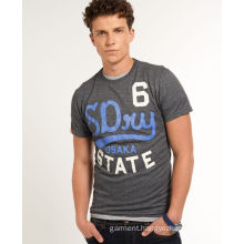 OEM Men Rubber Printed Cotton Jersey Wholesale T-Shirt