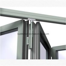Запатентованная верхняя подвесная система Алюминиевая складная дверь