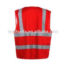 Защитные жилеты ENISO 20471 стандартный жилет, предупреждающие о движении отражающие жилеты флуоресцентные