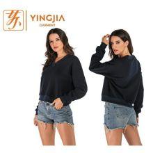 Hot Selling Women's V-neck Long-sleeved Fashion Sweatshirt