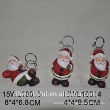 Рождественский Санта-Клаус керамический держатель карты