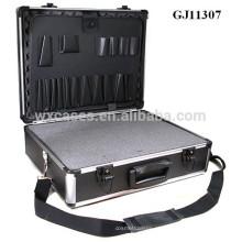 caixa de ferramenta forte e portátil de alumínio com espuma removível de cubos dentro