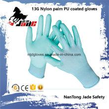 Hot Sales 13G Nylon Palm PU beschichtet Arbeitshandschuh