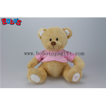 """11"""" Super Cute Plush Brown Baby Bear Toy with Pink T-Shirt"""