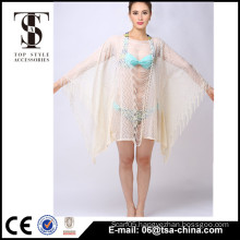Top selling products 2016 Summer Ladies Tassels lace Cardigan