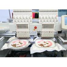 9 игл 2 головки плоская машина двойник возглавляет машину вышивки вышивка