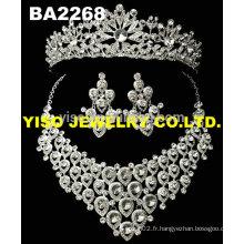 Collier de cristal de mariage fashional luxueux