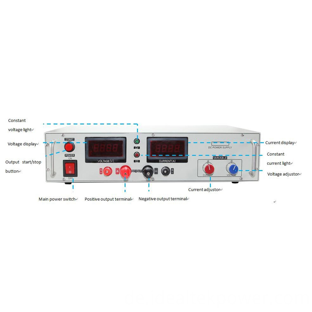 Smp 4000 Benchtop Dc Power Supply Front Panel Instruction