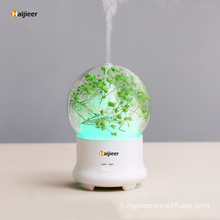 Humidificateur ultrasonique d'air de parfum de conception en bois de 120ml