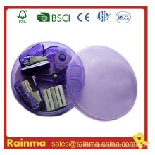 Mini Stapler Set in Round Plastic Box
