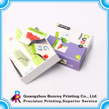 Cartões ingleses de aprendizagem das crianças com caixa de presente